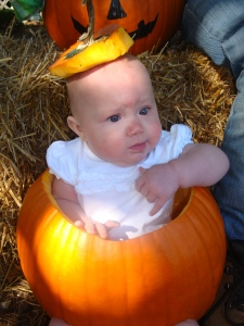 One time I even hollowed out a large pumpkin for the sole purpose of sticking my girlfriend's 1-year-old daughter in it, just for shits and giggles. Poor thing.