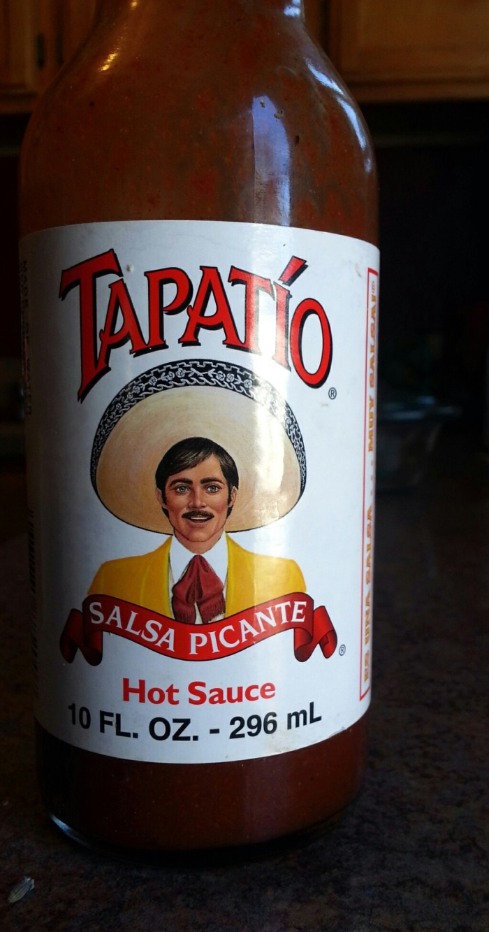 Tapatio Hot Sauce is, hands down, THE BEST hot sauce to use with your Spanish cooking. A girlfriend introduced it to me during a visit to Cali and I've loved it ever since. So I was ecstatic upon finding it here in Virgina, at a local grocery store.